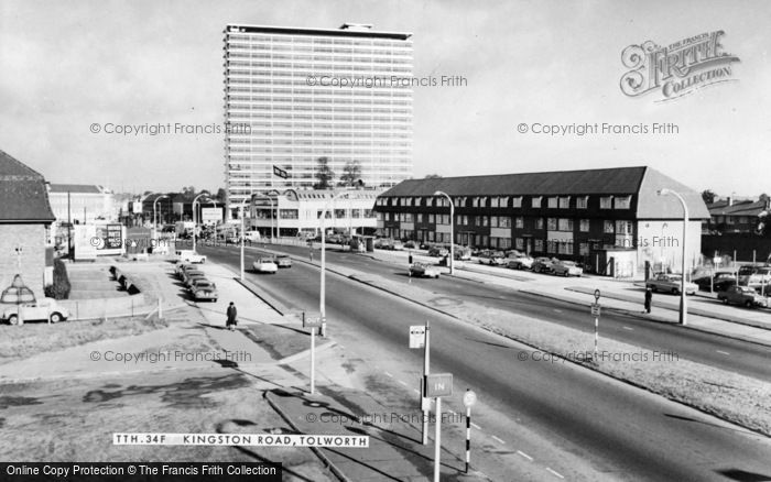 Photo of Tolworth, Kingston Road c.1965