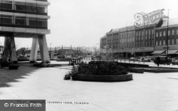 Tolworth, The Forecourt, Tolworth Tower c.1965