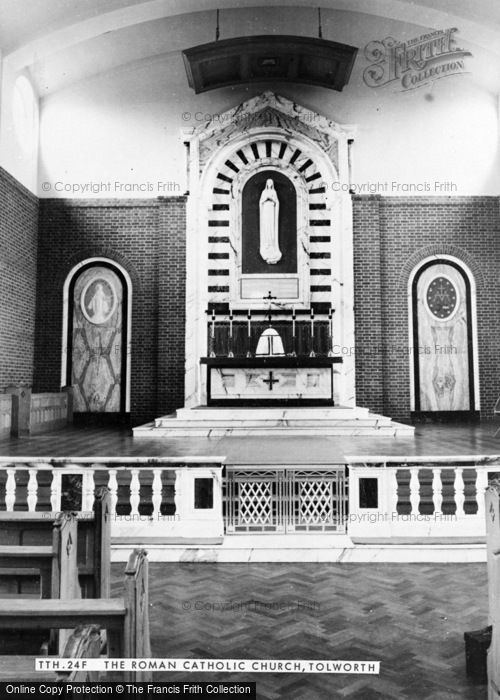 Photo of Tolworth, The Roman Catholic Church, Interior c.1960