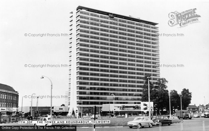 Photo of Tolworth, The Tower And Roundabout c.1965