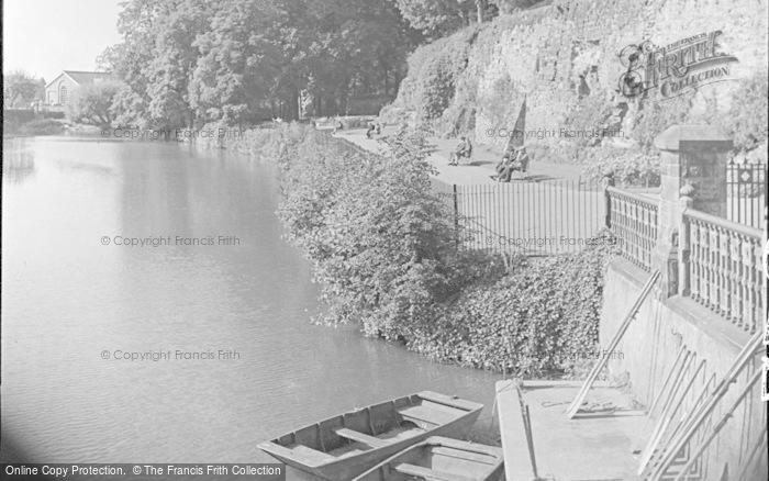 Photo of Tonbridge, Castle Walk By The River 1948