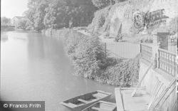 Tonbridge, Castle Walk By The River 1948