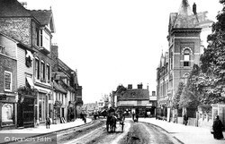 Tonbridge, High Street And Public Hall 1890