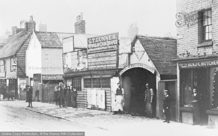 Photo of Tonbridge, High Street And Waghorn's Forge c.1890