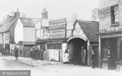 High Street And Waghorn's Forge c.1890, Tonbridge