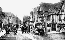Tonbridge, High Street, Ye Olde Chequers Inn 1890