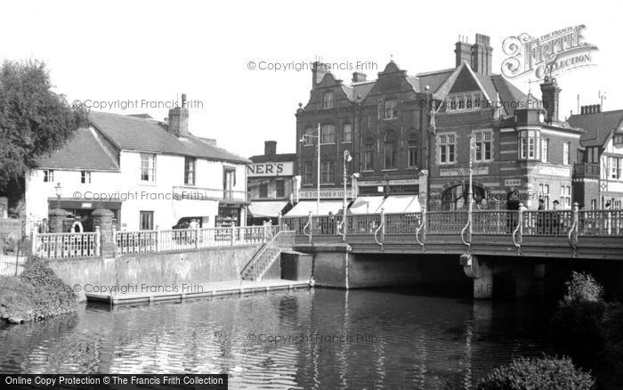 Photo of Tonbridge, The River Medway And Bridge 1951