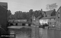 The River Medway And Bridge 1951, Tonbridge