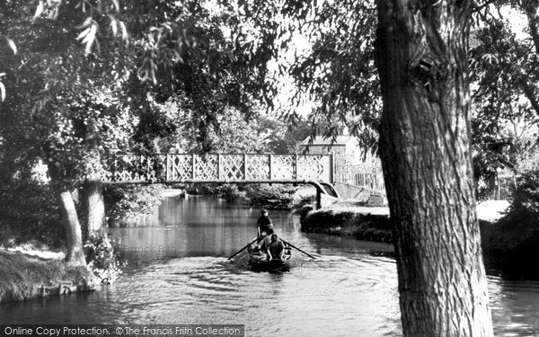 Photo of Tonbridge, The River Medway c.1950