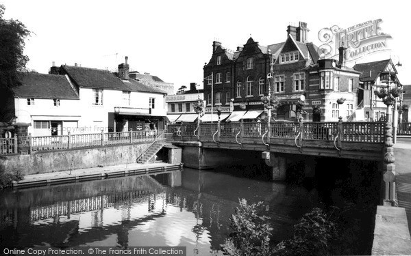 Photo of Tonbridge, Town Bridge c1960