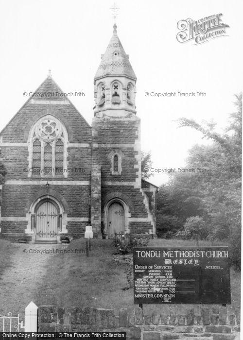 Photo of Tondu, Wesley Methodist Church c.1965