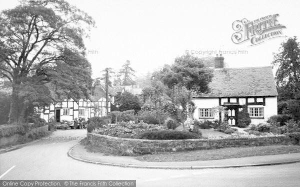 Photo of Tong, Old Cottages c.1955