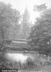 Tong, St Bartholomew's Church From River 1902