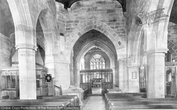 Photo of Tong, St Bartholomew's Church Interior 1898