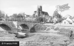 Topcliffe, The Bridge And Church c.1955