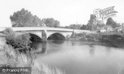 Topcliffe, The Bridge And St Columba's Church c.1960