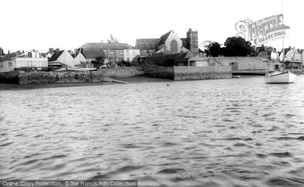 Topsham, Parish Church from the River Exe c1965