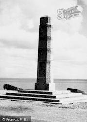 Torcross, American Memorial To The Devon People c.1955