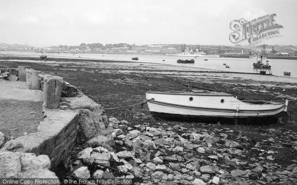 Photo of Torpoint, Ferry Beach c.1955