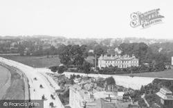 Torquay, Abbey Crescent And Belgravia Hotel 1896