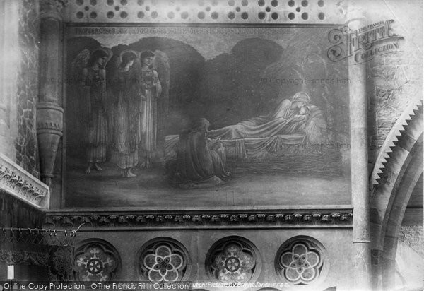 Torquay, St John's Church, Picture By Edward  Burne Jones 1906