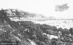 Torquay, Vane Hill And Rock Walk 1912