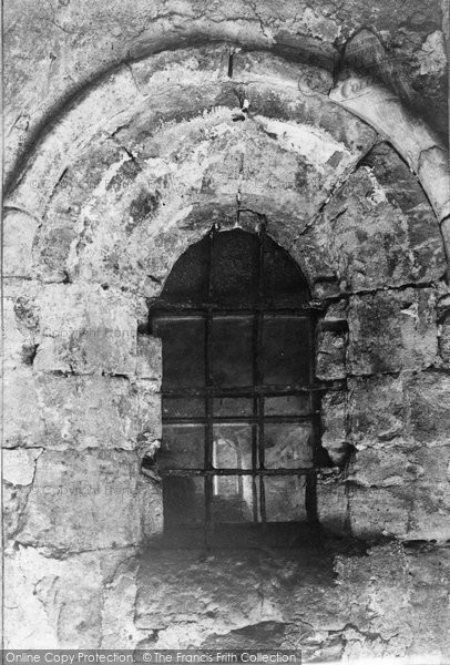Photo of Torre Abbey, Old Window Looking Into Crypt 1907