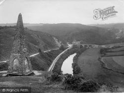Torrington, Castle Walks And Wellington Monument 1923, Great Torrington
