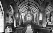 Torrington, St Michael's Church interior 1923