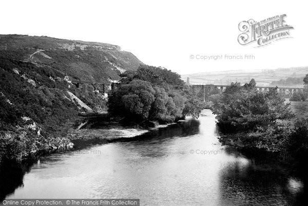 Torrington, view from Rothern Bridge 1893