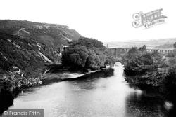 Torrington, View From Rothern Bridge 1893, Great Torrington