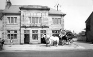 Torrisholme, a Waggonette at the George Hotel c1960