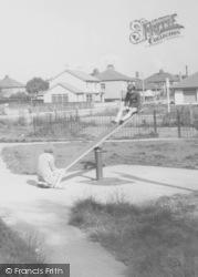 Children On Playground See-Saw c.1965, Torrisholme