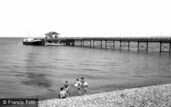 Totland Bay, the Pier c1955