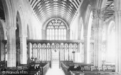 Totnes, Church Interior 1889