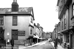 Totnes, Fore Street, Looking Down 1896