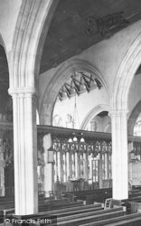 Totnes, St Mary's Church Interior 1924