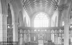 Totnes, St Mary's Church Interior 1931