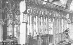 Totnes, St Mary's Church Screen 1924