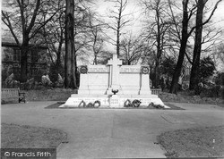 The Cenotaph c.1955, Tottington