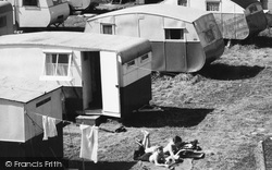 Towyn, Campers At Winkups Holiday Camp c.1960