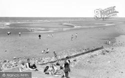 Towyn, The Beach c.1955
