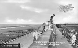 Towyn, The Sea Wall c.1955