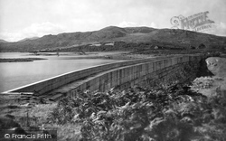 Trawsfynydd, Lake And Dam 1930