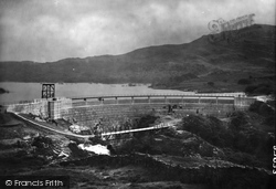 Trawsfynydd, New Dam And The Lake 1930