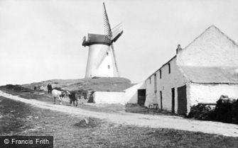 Trearddur Bay, Melin Stanly Windmill c1900