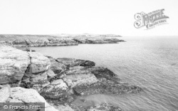View From Ravenspoint Hotel c.1960, Trearddur Bay