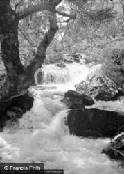 Trefriw, Falls At Foot Of Lake Crafnant 1952