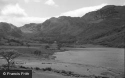 Trefriw, Lake Crafnant And Mountains 1952