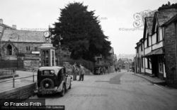 Trefriw, Rose Hill And Church 1956